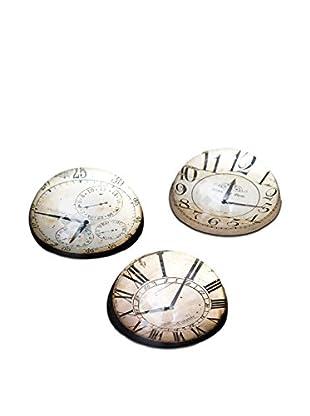 Winward Set of 3 Clock Paper Weights