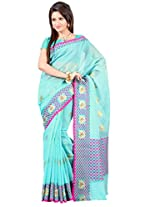 Mimosa Banarasi Soft Cotton Saree Light Ananda Colour(3127-AP-309-LANANDA)