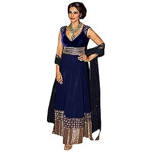 New Navyblue Designer Partywear Bollywood Replica Salwar Kameez Suit dress Bipasha Basu