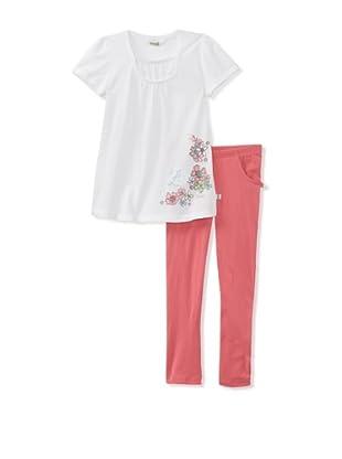 KANZ Girl's 2-Piece Knit Set (White)