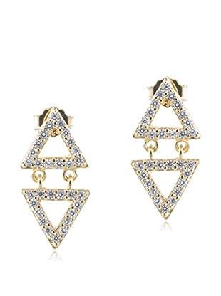 Jardin Pave Mini Triangle Earrings