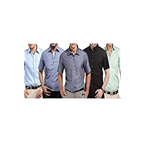 Combo Pack Of 5 S Bell Full Sleeves Men Assorted Shirts