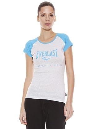 Everlast Camiseta Lovey (Blanco / Azul Claro)