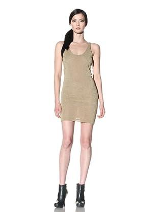 Improvd Women's Short Lurex Tank Dress (Champagne)