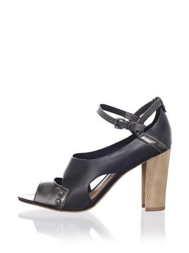 Sigerson Morrison Women's Bottice Ankle-Strap Sandal (Black/Silver)
