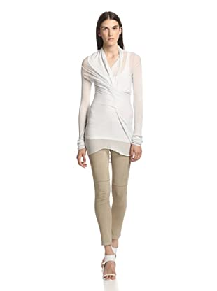 Rick Owens Lilies Women's Draped Knit Top (Fluoro)