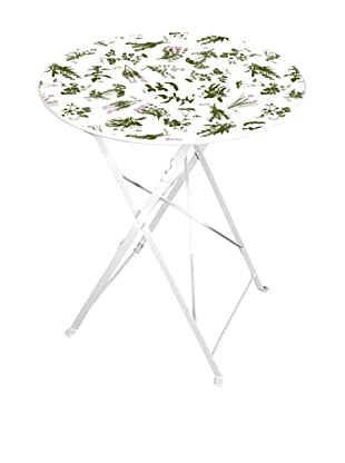 Esschert Design Herb-Print Bistro Table, Multi