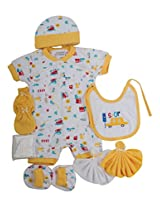 Mee Mee Pampering New Born Apparel Gift Set, 7 Pieces Set (Yellow)