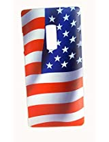 Protective Printed Back cover for One Plus Two ( 1+ 2 ). Print Collection: American flag