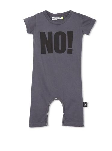 NUNUNU Baby NO! Play Suit (Dark Grey)