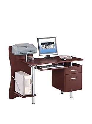 Techni Mobili Computer Desk, Chocolate