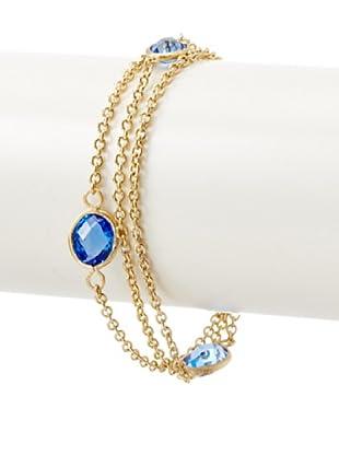 Rivka Friedman 3-Row Poppy Crystal Station Bracelet