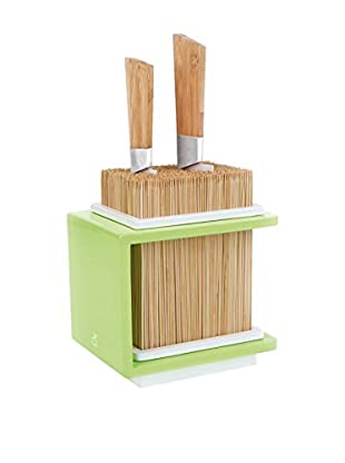 CookUt Fakir Bamboo Knives Holder, Green