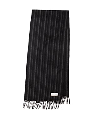 Joseph Abboud Men's Alternating Stripe Scarf (Black)