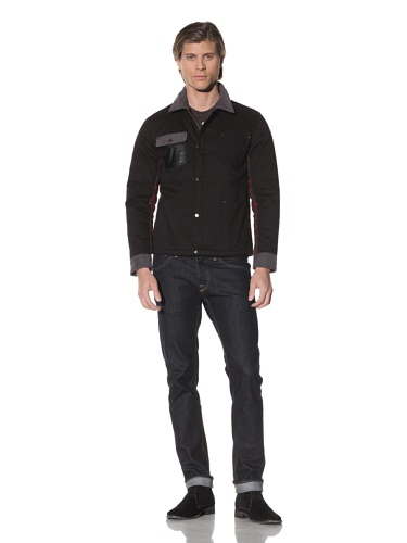 Shades of Grey by Micah Cohen Men's Quilted Jacket (Black)