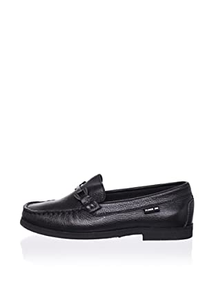 Pliner Jrs Matt Loafer (Black pebbled)