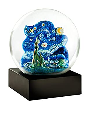 CoolSnowGlobes Starry Night Snow Globe, Blue