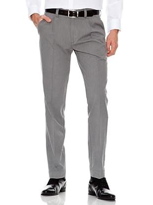 Dockers Pantalón Recto con Pinzas (gris oscuro)