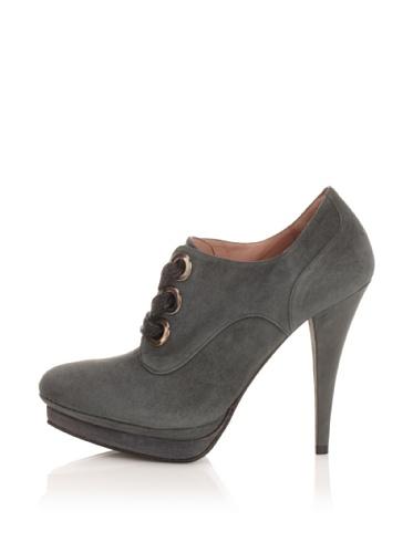 Pura Lopez Women's Platform Bootie (Dark Grey Blue)