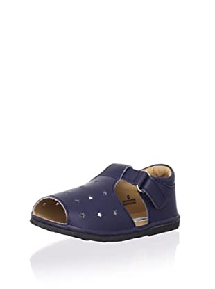 L'Amour Shoes Kid's Star Sandal (Navy)