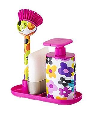 VIGAR Kit de Limpieza 4 Piezas Watercolor Rosa / Blanco