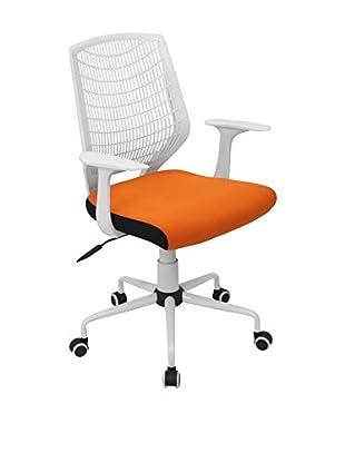 LumiSource Network Office Chair, White/Orange