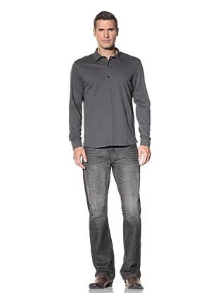 Robert Barakett Men's Georgia Heathered Shirt (Charcoal)