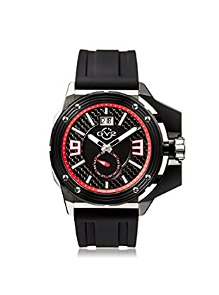 GV2 by Gevril Men's 9400 Grande Black Silicone Watch with an Extended Case
