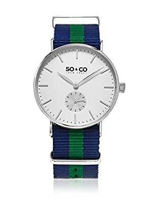 SO & CO New York Reloj con movimiento cuarzo japonés  Azul / Verde 40 mm