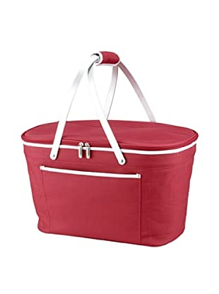 Picnic at Ascot Collapsible Basket Cooler (Red)