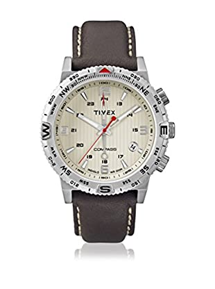 TIMEX Reloj de cuarzo Man Intelligent Compass Marrón Oscuro 42 mm