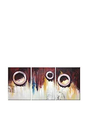 Legendarte Set Pintura al Óleo sobre Linezo 3 Uds. Passaggi Senza Uscita multicolor