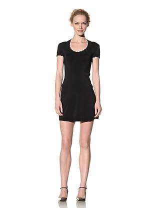 Philosophy di Alberta Ferretti Women's Scoop Neck Mini Dress (Black)