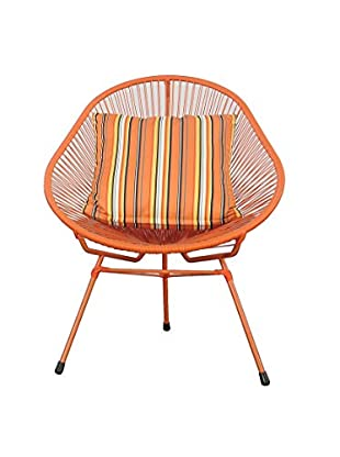 Jeffan Scoop Side Chair, Orange