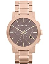 Burberry The City Rose Gold-Tone Chronograph Mens Watch Bu9353