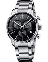 Calvin Klein ck City K2G27143 Black Round Dial Chronograph Watch - For Men