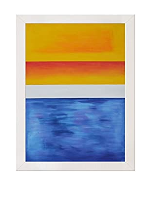 Mark Rothko Yellow, Red, Blue Framed Hand-Painted Reproduction, Multi, 43.5