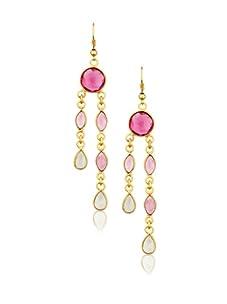 Zariin Pink & Purple Hall of Fame Earrings