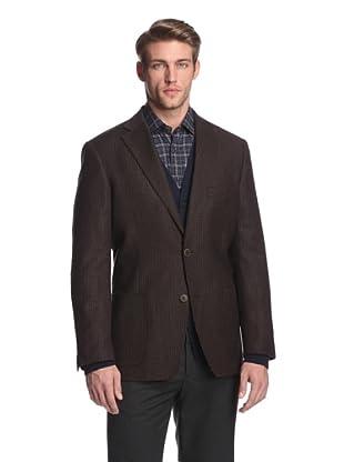 Ibiza Men's Rovini Checked Sportcoat (Brown)