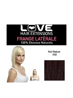 Love Hair Extensions 100% Echthaar-Seitenpony Farbe 1B- Naturschwarz, 1er Pack (1 x 1 Stück)
