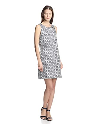 Hutch Women's Woven Shift Dress (Navy Tile Motif)