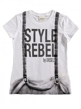 Diesel Kid T-Shirt Trinky (Weiß/Grau)
