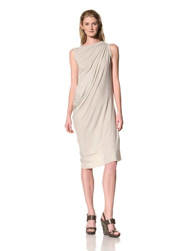 RICK OWENS Women's Side Drape Dress (Pearl)