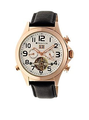 Heritor Automatic Uhr Adams Herhr2704 schwarz 50  mm