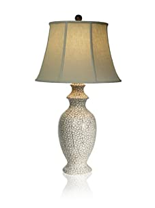 "Aqua Vista Bianco Emerald Sea Table Lamp, White, 33"""