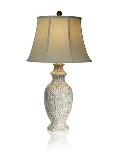 Aqua Vista Bianco Emerald Sea Table Lamp, White
