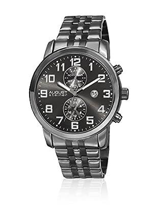 August Steiner Uhr mit Schweizer Quarzuhrwerk AS8175BK 44 mm