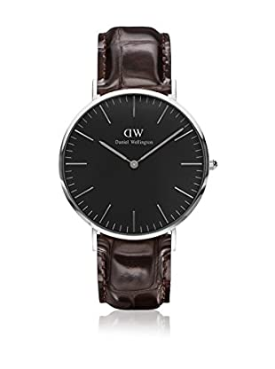 Daniel Wellington Reloj con movimiento cuarzo japonés Man Classic York dark brown 40 mm