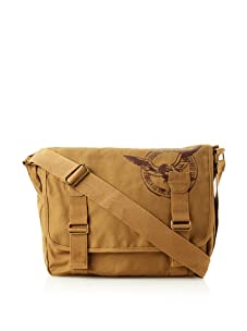 French Connection Men's Core Canvas Messenger (Sepia)