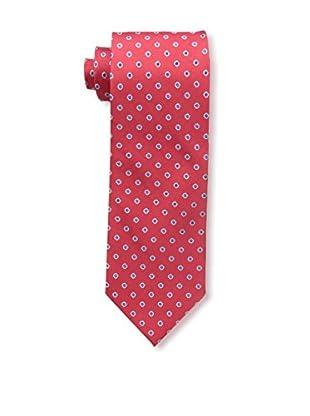 Bruno Piattelli Men's Dot Silk Tie, Red